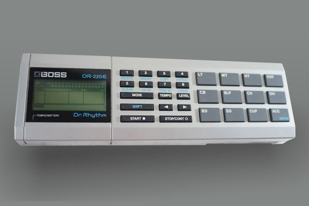 Boss DR-220e Dr. Rhythm Free Download Header Image